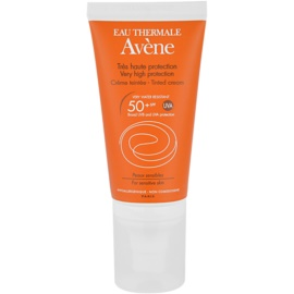 Avène Sun Sensitive crema solar con color SPF 50+  50 ml