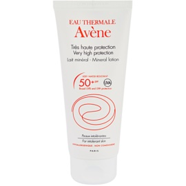 Avène Sun Mineral Protective Lotion Free of Chemical Filters and Fragrance SPF 50+  100 ml
