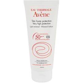Avène Sun Mineral Lapte de protecție fără chimicale și parfum SPF 50+  100 ml