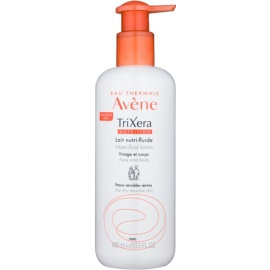 Avène TriXera Nutrition Face and Body Nourishing Fluid Lotion  For Dry and Sensitive Skin  400 ml