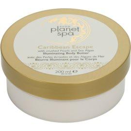 Avon Planet Spa Caribbean Escape rozjasňujúci telový krém s výťažkami z perál a morských rias  200 ml