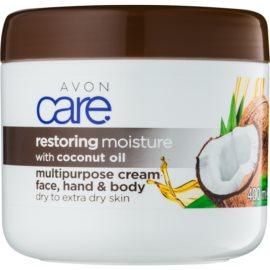 Avon Care feuchtigkeitspendende Creme für Gesicht und Körper mit Kokosöl  400 ml