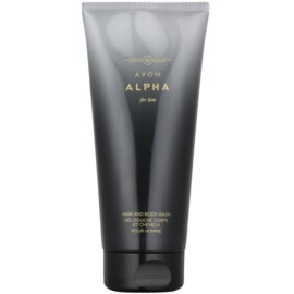Avon Alpha For Him gel de ducha para hombre 200 ml