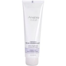 Avon Anew Clean nyugtató krémes tisztító gél és maszk normál és száraz bőrre  150 ml