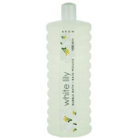 Avon Bubble Bath espuma de banho embalagem grande White Lily 1000 ml