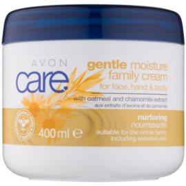 Avon Care Feuchtigkeit spendende Gesichts-, Hand- und Körpercreme mit Auszügen aus Hafer und Kamille  400 ml