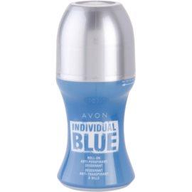 Avon Individual Blue for Him deodorant Roll-on para homens 50 ml