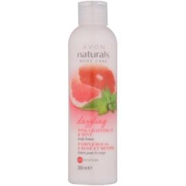 Avon Naturals Body telové mlieko s grapefruitom a mätou  200 ml