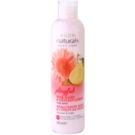 Avon Naturals Body loción corporal hidratante con margarita de los prados y limón   200 ml