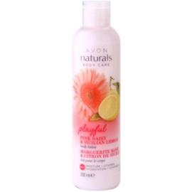 Avon Naturals Body hydratační tělové mléko se sedmikráskou a citronem  200 ml