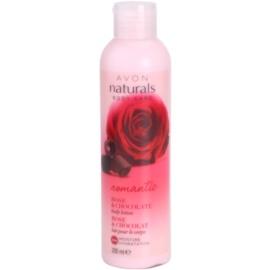 Avon Naturals Body leite corporal com rosas e chocolate  200 ml