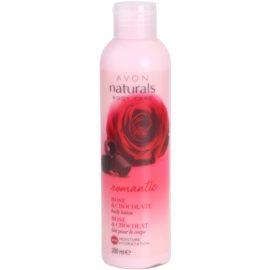 Avon Naturals Body testápoló tej rózsával és csokoládéval  200 ml
