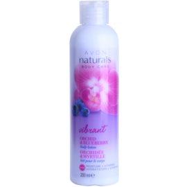 Avon Naturals Body telové mlieko s orchideou a čučoriedkou  200 ml