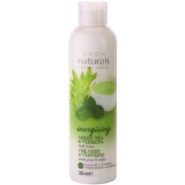 Avon Naturals Body feuchtigkeitsspendende Körpermilch mit grünem Tee und Verbena  200 ml