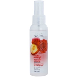 Avon Naturals Body спрей для тіла з червоною трояндою та персиком  100 мл