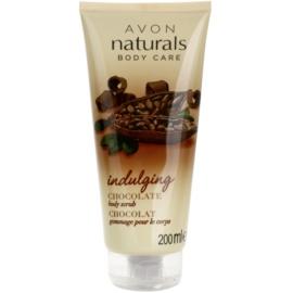 Avon Naturals Body exfoliante corporal con chocolate   200 ml