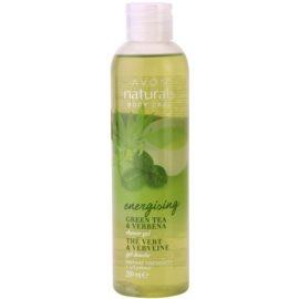Avon Naturals Body освежаващ душ гел със зелен чай и върбинка  200 мл.