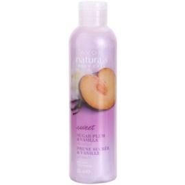 Avon Naturals Body sprchový gél so slivkou a vanilkou  200 ml