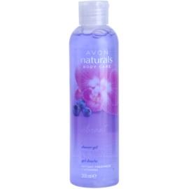 Avon Naturals Body sprchový gel s orchidejí a borůvkou  200 ml