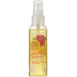 Avon Naturals Fragrance csillámos testpermet maracujával és bazsarózsával  100 ml