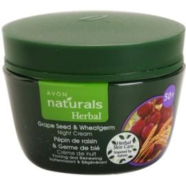Avon Naturals Herbal crema de noche reafirmante y restauradora con extracto de semilla de uva y germen de trigo   50 ml