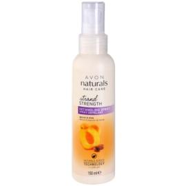 Avon Naturals Hair Care vlasový sprej pro snadné rozčesání vlasů meruňka a bambucké máslo  150 ml