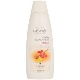 Avon Naturals Hair Care hranilni šampon z medom in brusnico  za vse tipe las  700 ml