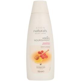 Avon Naturals Hair Care nährendes Shapoo mit Honig und Cranberry für alle Haartypen  700 ml