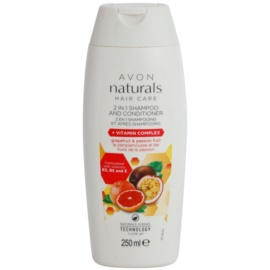 Avon Naturals Hair Care šampon a kondicionér 2 v 1  250 ml