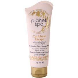 Avon Planet Spa Caribbean Escape rozświetlająca maseczka do twarzy z ekstraktami z pereł i alg morskich  75 ml