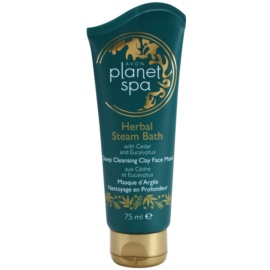 Avon Planet Spa Herbal Steam Bath máscara facial de limpeza profunda de argila com cedro e eucalipto  75 ml