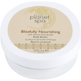 Avon Planet Spa African Shea Butter odżywczy krem do ciała z masłem shea  200 ml