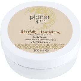 Avon Planet Spa African Shea Butter tápláló testápoló krém bambusszal  200 ml