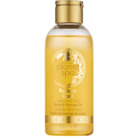 Avon Planet Spa Radiant Gold óleo de massagem iluminador e brilhante  150 ml