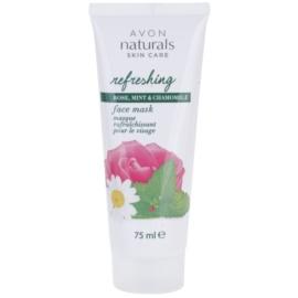 Avon Naturals Refreshing vlažilna maska za obraz z vrtnico, meto in kamilico  75 ml