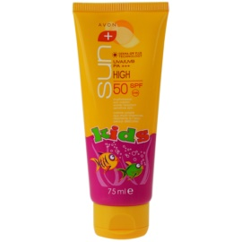 Avon Sun Kids wodoodporny krem do opalania dla dzieci SPF 50  75 ml