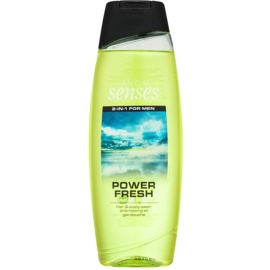 Avon Senses Power Fresh gel de ducha y champú 2en1  500 ml
