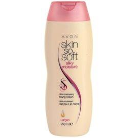 Avon Skin So Soft Silky Moisture loción corporal hidratante y suavizante con aceite de argán  250 ml