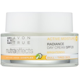 Avon True NutraEffects crema giorno illuminante SPF 20  50 ml