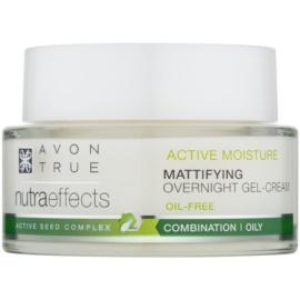 Avon True Nutra Effects mattító éjszakai géles krém nem zsíros formában  50 ml