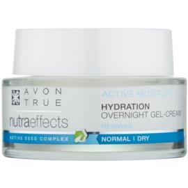 Avon True Nutra Effects hidratáló és nyugtató éjszakai géles krém  50 ml