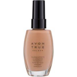 Avon True Colour zklidňující makeup pro rozjasnění pleti odstín Warmest Beige 30 ml