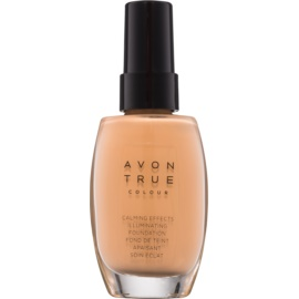 Avon True Colour zklidňující makeup pro rozjasnění pleti odstín Almond 30 ml