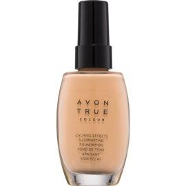 Avon True Colour zklidňující makeup pro rozjasnění pleti odstín Nude 30 ml