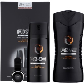 Axe Dark Temptation coffret I.  desodorizante em spray 150 ml + gel de duche 250 ml + objetiva em formato