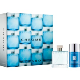Azzaro Chrome Gift Set I.  Eau De Toilette 50 ml + Deodorant Stick 75 ml