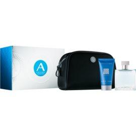 Azzaro Chrome darilni set VII. toaletna voda 50 ml + gel za prhanje 50 ml + kozmetična torbica
