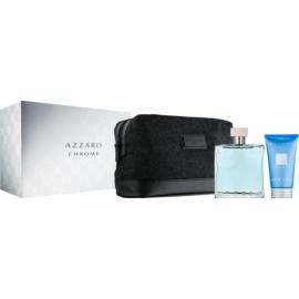 Azzaro Chrome Geschenkset X. Shampoo für den ganzen Körper 50 ml + Täschchen 1
