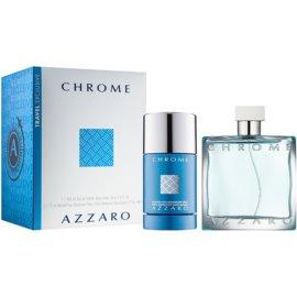 Azzaro Chrome ajándékszett VIII.  Eau de Toilette 100 ml + stift dezodor 75 ml