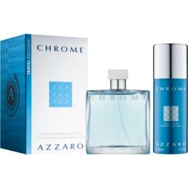 Azzaro Chrome darilni set IX. toaletna voda 100 ml + dezodorant v pršilu 150 ml